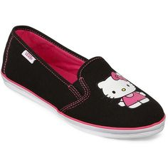 Vans(R) Kalani Hello Kitty Casual Slip Ons ($50) ❤ liked on Polyvore