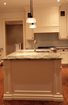 For people who love to cook! Kitchen island with decorative range hood. Custom Kitchen Cabinets, Custom Kitchens, Off White Kitchens, Kitchen Island, Kitchen Design, Range, Design Ideas, Cooking, People
