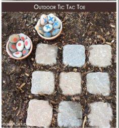 Tic Tac Toe outdoors