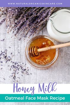 Honey and milk are both excellent products for your skin to hydrate and fight signs of aging! Follow the DIY beauty recipe below to create a custom anti-aging milk and honey face mask. And if you want extra benefits, we suggest adding some oats to exfoliate dead skin and leaving it looking brilliantly smooth. #skincaretips #skincarerecipes #honeyfacemask #facemask #oatmealskincare