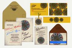 Vintage Medallion Wedding Invitation Indian Wedding Invitations, Vintage, Vintage Comics