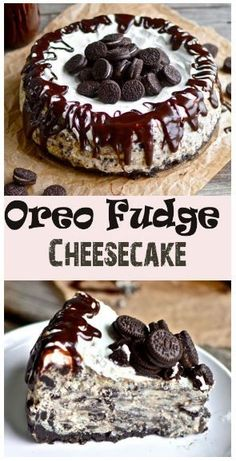 "BEST Oreo Fudge Cheesecake - Recipes Instant You're probably thinking to yourself, ""My goodness. What an incredibly rustic looking cheesecake that is.""Well, that's what twenty dollars . Yummy Treats, Sweet Treats, Yummy Food, Delicious Deserts, Fudge Recipes, Baking Recipes, Cookie Recipes, Oreo Fudge, Oreo Cake"