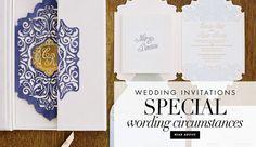 Special Wording for Invites | Photography: Caroline Tran. Read More:  http://www.insideweddings.com/news/planning-design/wedding-invitation-wording-etiquette-for-special-circumstances/2910/