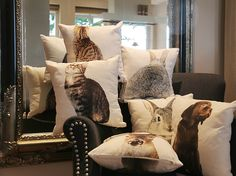 New Mars & More Double Face cushions with animal print have arrived!