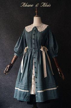 【现货】 Akane&Alois 「红发安」 落肩袖连衣裙-淘宝网