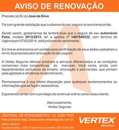 Aviso de Renovação Vertex.