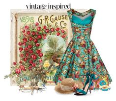 """Vintage Fashion"" by flowerchild805 ❤ liked on Polyvore featuring Mary Frances Accessories, BaubleBar, Christian Louboutin and vintage"