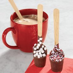 Just dip this Hot Chocolate on a Spoon into water and milk and you have instant goodness!