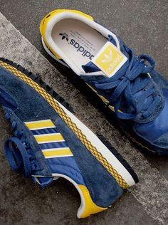 online store 9f22f 10a63 adidas Originals Marathon PT  Blue Yellow Zapatillas Deportivas, Zapatos  Deportivos, Zapatero,