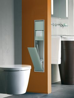This toilet module of the Emco Asis series keeps everything ready that you need on your quiet place.