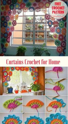 Curtains crochet for home free pattern and tutorial fabulous crochet curtains for the home tutorial shows the way how to make these flowers and join them together the language of the tutorial is not english but the most important is the stitch so focus on Diy Crochet Flowers, Crochet Puff Flower, Crochet Flower Patterns, Crochet Doilies, Crochet Stitches, Crochet Home Decor, Crochet Crafts, Crochet Projects, Free Crochet