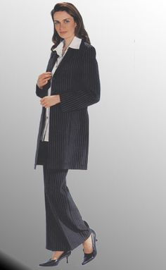 Womens Pant Suit With Long Jacket Dress Yy