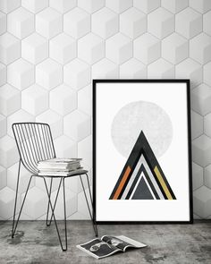 Wall Art Idea – Make A Modern Statement With Abstract Geometric Art