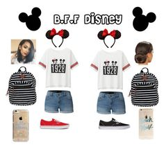 """This is a perfect outfit idea for a out of town look for Disney. This on particular look is for that special trip that you take with your Best Friend!!!"" by eguadalupe on Polyvore featuring Vans, LE3NO, Uniqlo, Disney, Madden Girl and Agent 18"