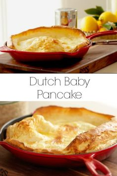 Learn how to make a Dutch Baby Pancake Recipe a classic weekend treat! Perfect a… Learn how to make a Dutch Baby Pancake Recipe a classic weekend treat! Perfect as a Brunch Recipe or for Christmas Morning Breakfast. Dutch Pancakes, Dutch Baby Pancake, Baby Pancakes, Mini German Pancakes, Kodiak Pancakes, German Pancakes Recipe, Oven Pancakes, Pancakes Easy, Dutch Oven Cooking