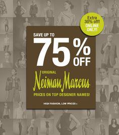 Up to 75% Off Neiman Marcus Top Designers!