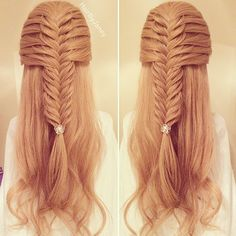 french fishtail half-up