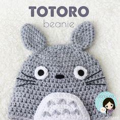 Totoro Beanie - Crochet Pattern by Doriyumi