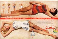 Jantzen Bathing Suit Ad 1956 Two Page Ad | eBay