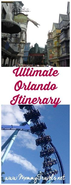 6 day Orlando Itinerary with what to do, where to eat, where to stay, and what to see including Disney World, Universal Studios, Aquatica, Discovery Cove, and Sea World.