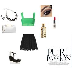 Pure Passion/ by zandrews on Polyvore featuring Valentino, MSGM, Casadei, MICHAEL Michael Kors, Vera Bradley, CARGO and Guerlain