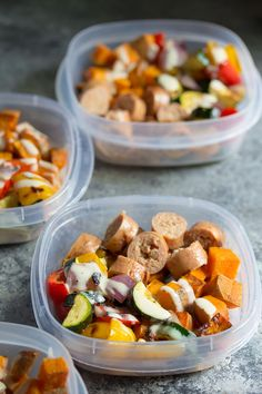 Make these Turkey Sausage & Sweet Potato Lunch Bowls on Sunday and you'll have your work lunch ready for the next week! Meal Prep