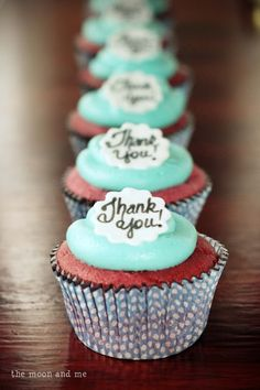 say thank you with a cupcake