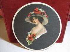 Beautiful unused antique 1910's20's paper label for by puffadonna, $10.00