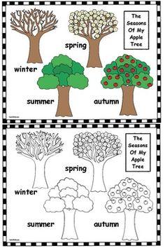 Apple Activities FREE Seasons Of My Tree Color Me