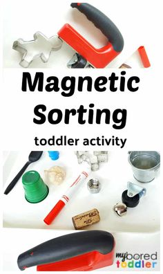magnetic sorting toddler activity idea to do at home – a fun STEM or STEAM toddler activity idea that is easy to set up. - Education and lifestyle