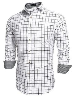 Coofandy Men's Fashion Long Sleeve Plaid Button Down Casu... http://www.amazon.com/dp/B01A4ZFQD6/ref=cm_sw_r_pi_dp_Bbhixb0ZDQCND
