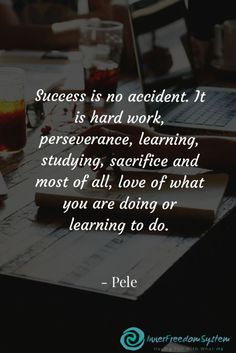 Success is no accident. It is hard work perseverance learning studying sacrifice. - Success is no accident. It is hard work perseverance learning studying sacrifice and most of all lo - Hard Work Quotes, Study Motivation Quotes, Study Quotes, Sucess Quotes, Life Quotes, Quotes Quotes, Qoutes, Powerful Motivational Quotes, Inspirational Quotes