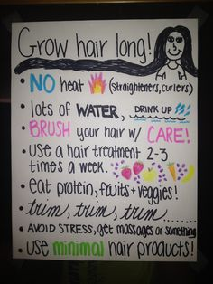 Grow hair long!