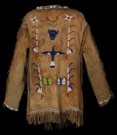 Sioux Pictorial Beaded Jacket - Old West Events Native American Warrior, Native American Clothing, Native American Fashion, Native American Indians, Native Americans, Indian Quilt, Beaded Jacket, Create Shirts, Nativity Crafts