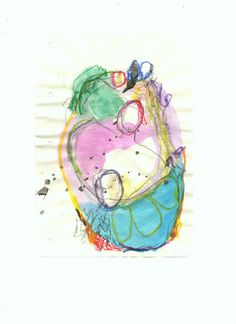 100daysofabstractsketch: Day 16 / The fragility of human heart