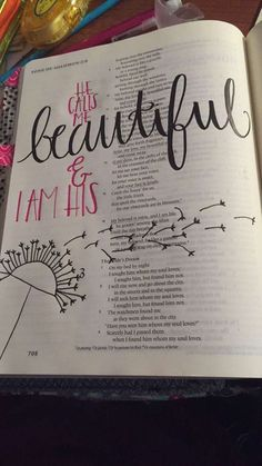 Some of my work. Song of Solomon 2:13,16 #biblejournaling