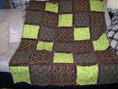 Custom rag quilt samples-choose your favorite fabric bundle to create your own. $45.00, via Etsy.