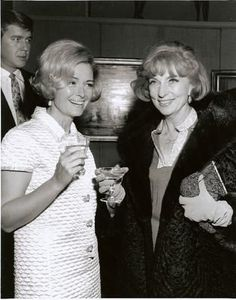 Agnes Moorehead and Donna Reed