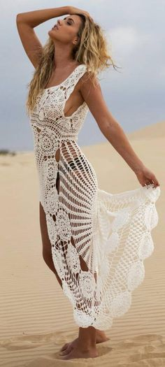 Crochet maxi dress by Ellenn&James on Etsy
