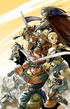 Chrono Trigger Tribute by ~Zackules on deviantART Arte Final Fantasy, Fantasy Art, Super Nintendo, Geeky Wallpaper, Chrono Cross, Infamous Second Son, Chrono Trigger, Geek Games, Fanart