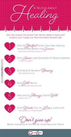 Do you want to know the truth about healing? Check out these six truths from Scripture.