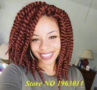 (3packs)Havana Mambo Twist Crochet Braid Hair 12 Inch Crochet Hair Extensions Marley Twist Hair 12strands/pack