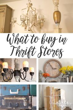 What to buy in Thrift Stores and today I'm sharing my favorite treasures. Let me know your favorite thing to look for in thrift stores. | Country Design Style | countrydesignstyle.com