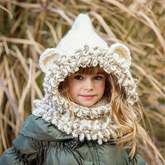 f24e707e972 Cute Worm Handmade Ear Neck Scarf Crochet Knitted Hat Scarf Crochet