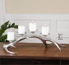 Uttermost Silver Antler Candleholder (19893)
