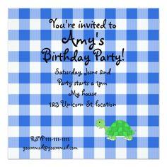 Turtle invitations