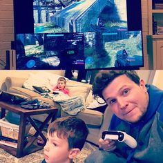 Introducing these boys to the only video game genre that matters: split-screen FPS! #halo #fps #xboxone #classic