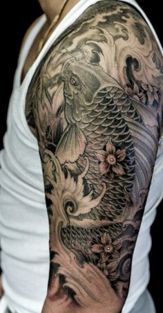 Beautiful Koi Fish Tattoo Designs Meanings