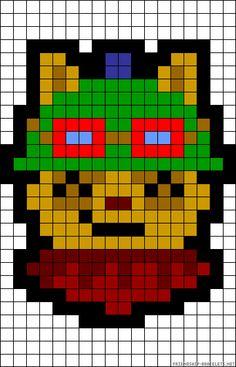 Teemo - League of Legends Perler Bead Pattern