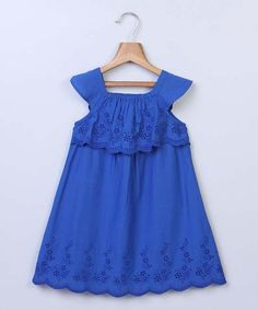 This Blue Eyelet Yoke Dress - Infant & Toddler is perfect! #zulilyfinds